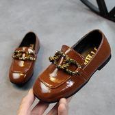 季新款韓版兒童鞋子歐美簡風錬條單鞋