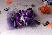 蜜諾菈Minerva‧萬聖節派對裝扮可愛精靈雪紗髮夾‧編號00235