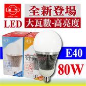 旭光 80W 大瓦數 高亮度 LED燈泡 省電燈泡 E40燈泡 CNS全周光  含稅【奇亮科技】