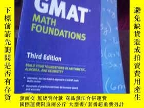二手書博民逛書店Kaplan罕見GMAT Math Foundations [平