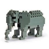 《 NanoBlock 迷你積木 》NBC-035 非洲象 African Elephant  ╭★ JOYBUS玩具