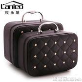 化妝包 大容量化妝品韓國收納包旅行可愛手提箱便攜大小號簡約迷你化妝包  瑪麗蘇