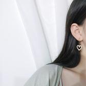 幾何 圓形 鏤空 珍珠 愛心 吊墜 簡約耳圈 耳環【DD1804150】 ENTER  10/03
