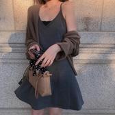 秋季新款韓版裙子內搭吊帶裙收腰顯瘦連身裙女a字短裙