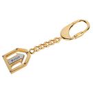 BALLY經典LOGO箭頭造形鑰匙圈吊飾(金色) 090159