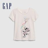 Gap女幼迪士尼印花圓領短袖T恤584843-象牙白