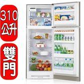 結帳更優惠★SHARP夏普【SJ-E31T-S】310L雙門變頻電冰箱