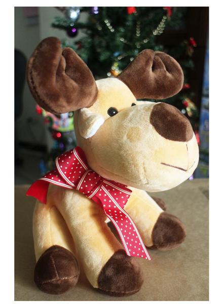 【卡漫城】  聖誕 麋鹿 玩偶 24CM 耶誕 擺飾 吊飾 禮物 裝飾 Reindeer 娃娃 聖誕老公公 X'mas