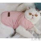 純棉貓咪無袖可愛夏季薄款防掉毛寵物衣服【極簡生活】