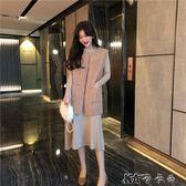 背心外套 時尚韓版羊羔毛馬甲女中長款寬鬆無袖背心馬甲坎肩外套潮 卡卡西