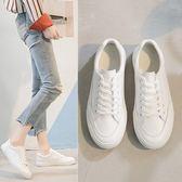 小白鞋女夏季真皮透氣平底白鞋