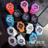 手錶 潮流 手表女學生韓版簡約數字式夜光防水男女款星空電子表