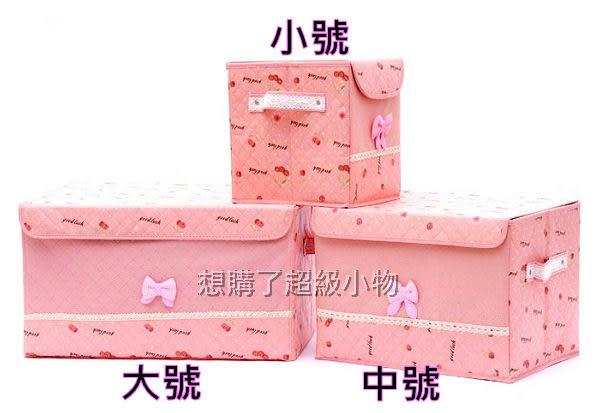 收納箱 櫻桃系列 長方型收納箱-24.5*18*25  內衣收納盒 想購了超級小物