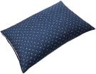 SEIDO【日本代購】蕎麥殼枕 高度調節 日式花紋帶罩 日本製 - 藏青色