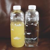 韓國冰山世界超大容量玻璃杯動物透明水杯創意學生便攜水瓶隨手杯