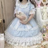 洛麗塔洋裝-原創設計洛麗塔Lolita星頌op夏日清新甜美輕花嫁款日常洋裝洋裝  【快速出貨】YXS