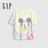Gap女童 Gap x Disney 迪士尼系列短袖T恤 811597-彩色紮染