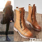 雪靴 雪地靴女防水加絨短靴真皮棉靴保暖防滑中筒靴學生英倫馬丁靴潮靴