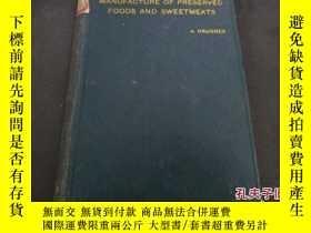 二手書博民逛書店《manufacture罕見of preserved foods