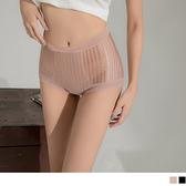 無痕透膚條紋拼接蕾絲束腹褲 OrangeBear《VB0574》