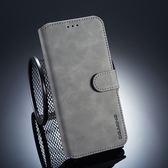 三星 A6 Plus 復古皮套 翻蓋手機殼 磁扣錢包款皮套 插卡防摔保護套 支架保護殼 附掛繩 A6+