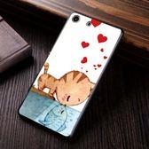 Sony Xperia M5 E5653 手機殼 硬殼 兩個世界 貓戀魚