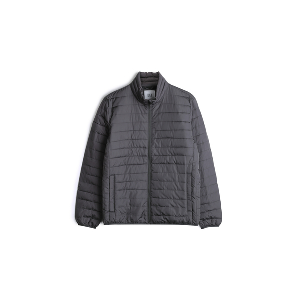 Gap男裝保暖舒適拉鍊半高領棉服477786-溫和黑色