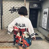 夏裝新款日式和服和風羽織蝙蝠日本古風外套開衫女寬鬆防曬衫    韓小姐