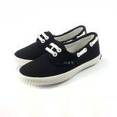 中童 簡約大方 柔軟輕便鞋 休閒鞋 懶人鞋 《7+1童鞋》E216 黑色