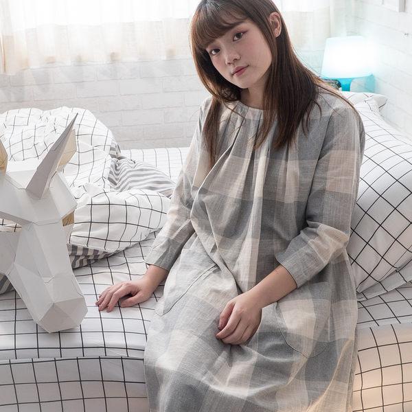 Cube&Line【床包黑白格子】雙人5X5.5涼被乙件 舒適磨毛布 台灣製造