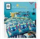 藍色史迪奇床包四件套 1.5米床罩 五尺 男孩寢室床套 純棉史迪仔床包【藍星居家】