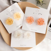 耳環 彩色 花朵 立體 水晶 花瓣 甜美 氣質 耳釘 耳環【DD1905034】 BOBI  07/25