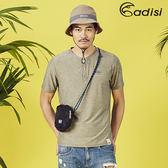 ADISI 男短袖造型領透氣排汗衣 AL1811039 (S~2XL) / 城市綠洲專賣(浪花洞洞、透氣快乾、輕薄柔軟)