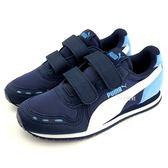 《7+1童鞋》中童 Cabana Racer Mesh V PS 輕量 透氣 休閒 運動鞋 8229 藍色