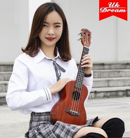 尤克麗麗 尤克里里初學者學生成人女男ukulel小吉他兒童入門23寸26烏克麗麗 MKS免運