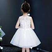 女童連身裙夏裝2019新款小女孩禮服白色韓版童裝夏季兒童公主裙子