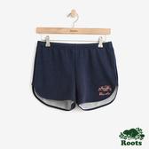 女裝ROOTS - 彩色海狸刷毛短褲-藍色