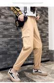 夏裝 工裝褲子情侶束腳顯瘦bf嘻哈帥氣學生韓版寬鬆休閒褲