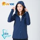 UV100 防曬 抗UV-涼感反光連帽外套-女