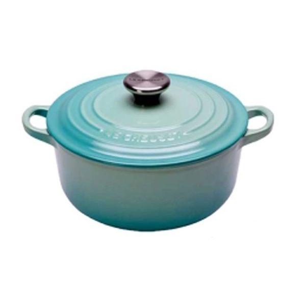 Le Creuset 16公分 圓鐵鍋 (薄荷綠)鋼頭 鑄鐵/琺瑯 ★免運費