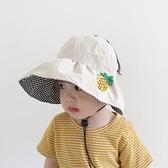 寶寶防曬帽夏季男孩出游薄款大帽檐遮陽盆帽男童女童空頂帽嬰童潮一米