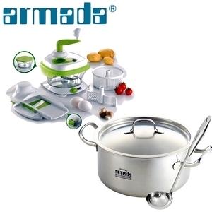 【armada阿曼達】伊麗莎白雙耳湯鍋20cm(食材調理器)