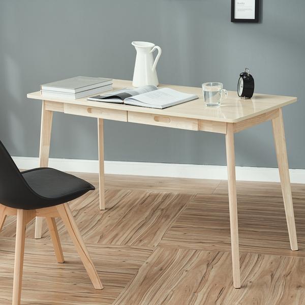 威瑪索 簡約雙抽屜工作桌/書桌/辦公桌/電腦桌-寬120深55高74cm