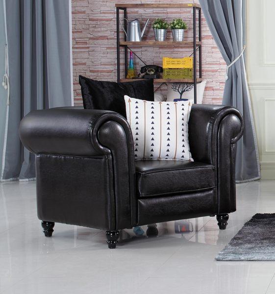 【森可家居】羅德曼一人位沙發 7JX202-1特價品