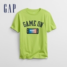 Gap男童 趣味互動圓領T恤 855014-嫩綠色