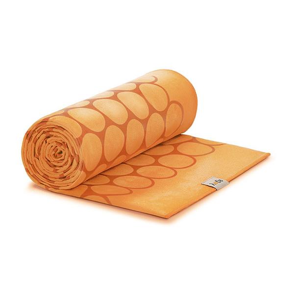 Agoy 瑜珈鋪巾 壁虎鋪巾3.0 (圈圈款) - 沙漠橘 (送防水收納袋)