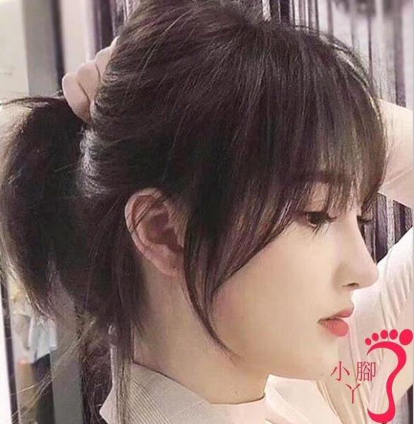 假劉海 網紅法式劉海中分兩側空氣八字假髪片3D假髪修臉自然假劉海留海女
