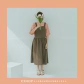 洋裝 京都女子棉麻吊帶裙 單色-小C館日系