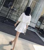 棉質襯衫連身裙長袖裙子女白色吾本良品