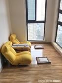 沙發 單人沙發懶人小戶型臥室簡易折疊小沙發女生宿舍陽台榻榻米靠背椅 LannaS YTL